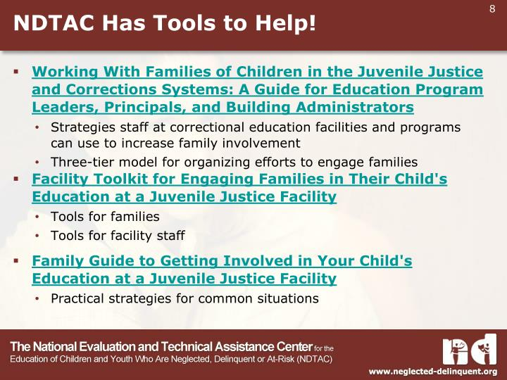 NDTAC Has Tools to Help!