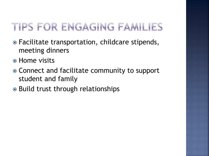 Tips for Engaging Families