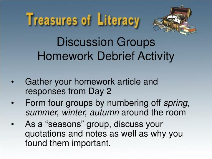 Discussion Groups