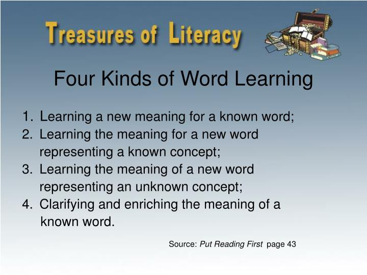 Four Kinds of Word Learning