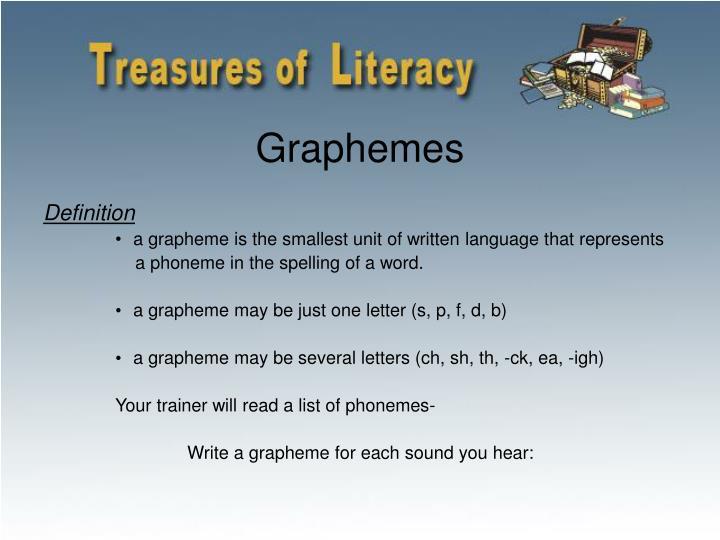 Graphemes