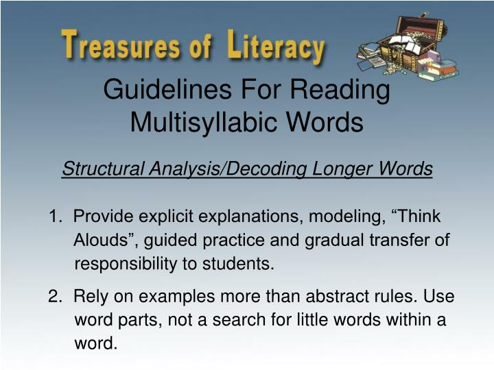 Guidelines For Reading