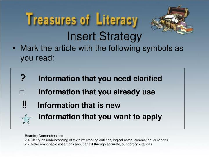 Insert Strategy