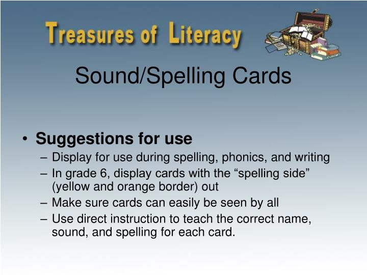 Sound/Spelling Cards