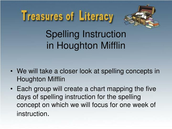 Spelling Instruction