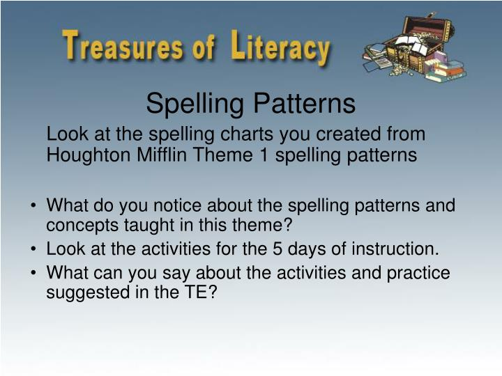 Spelling Patterns