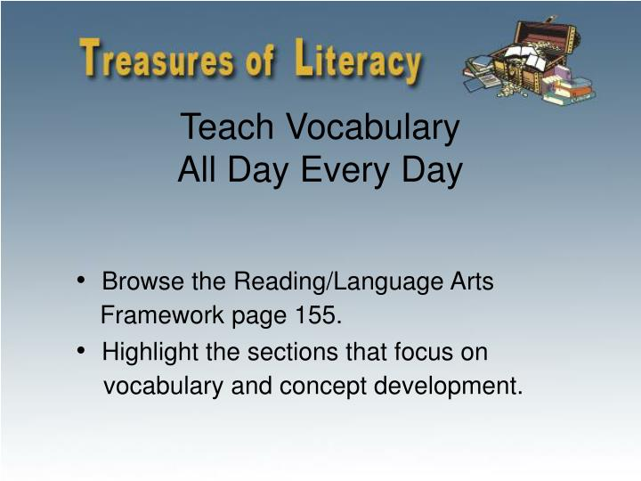 Teach Vocabulary