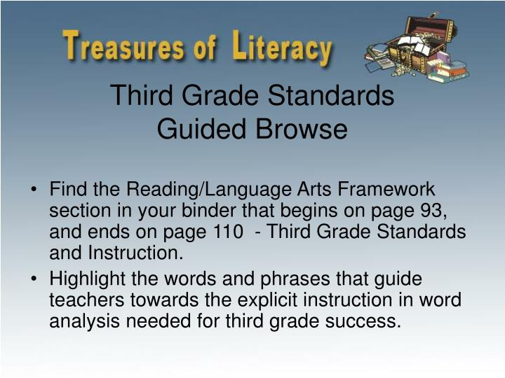Third Grade Standards