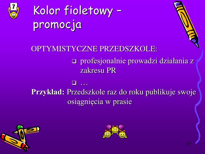 Kolor fioletowy –