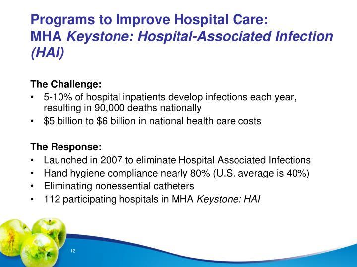 Programs to Improve Hospital Care: