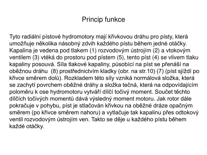 Princip funkce