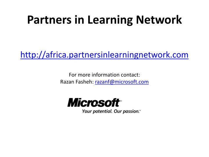 Partners in Learning Network