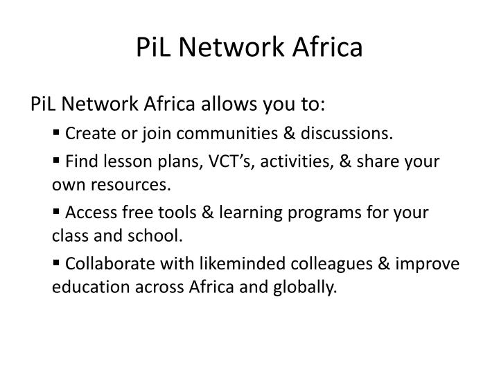 PiL Network Africa