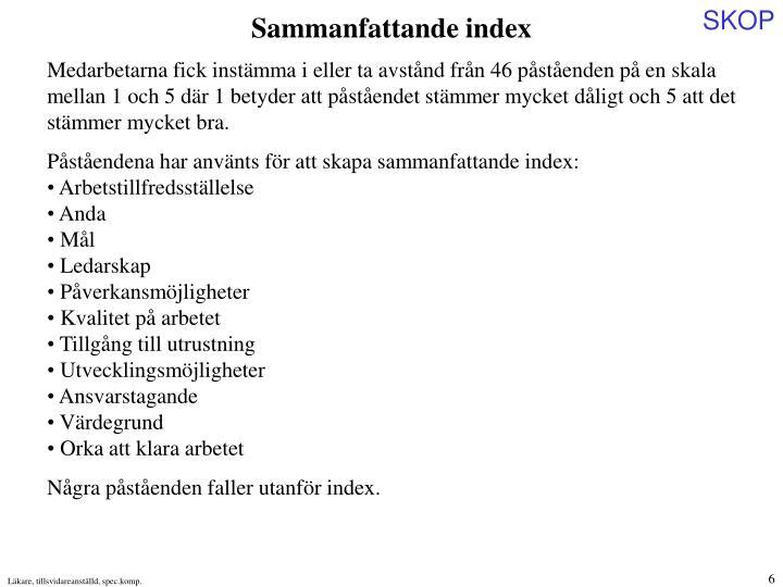 Sammanfattande index