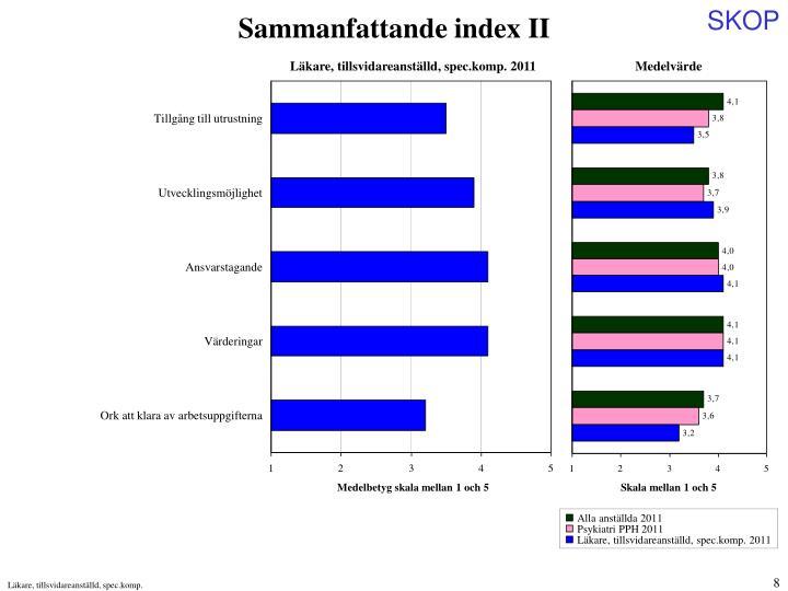 Sammanfattande index II