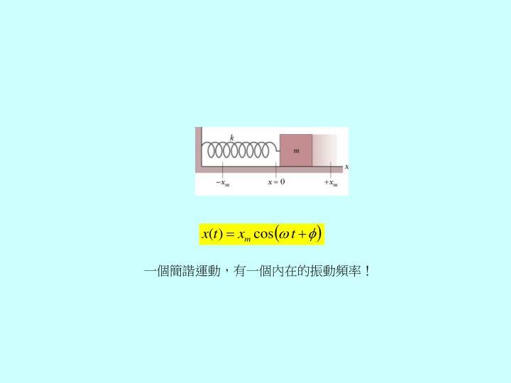 一個簡諧運動,有一個內在的振動頻率!