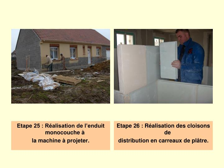 Ppt les diff rentes tapes de la construction d une for Machine carrelage monocouche
