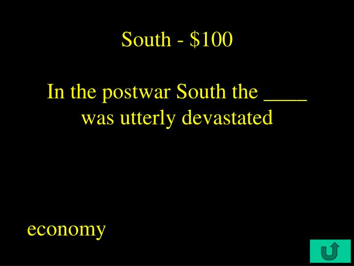 South - $100