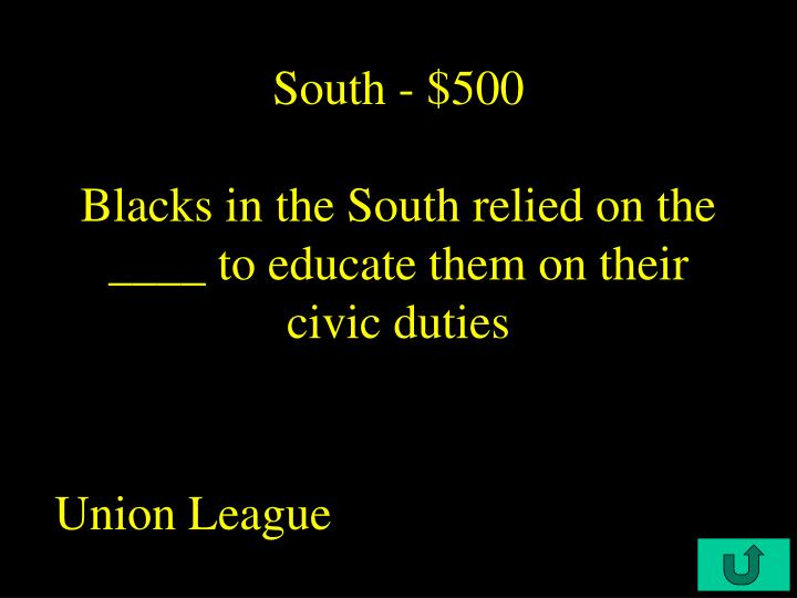 South - $500