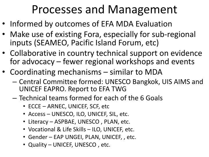 Processes and Management