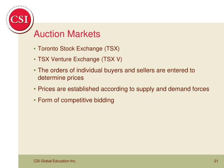 Auction Markets
