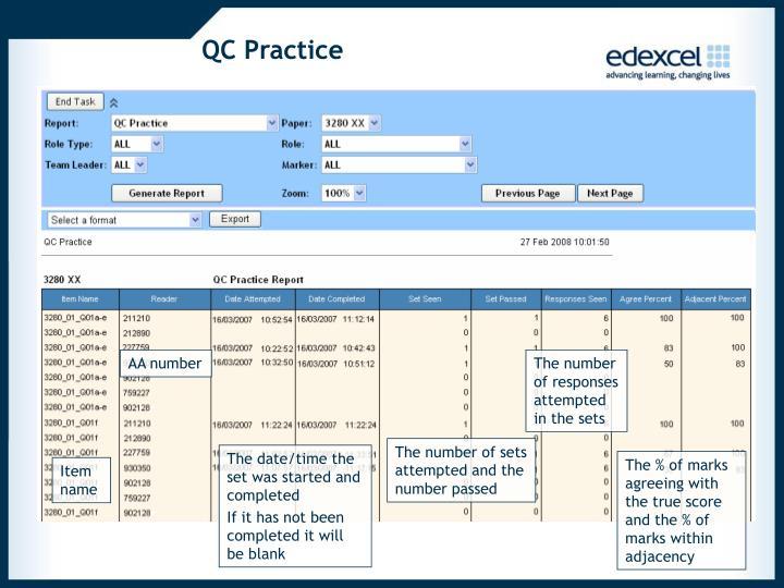 QC Practice