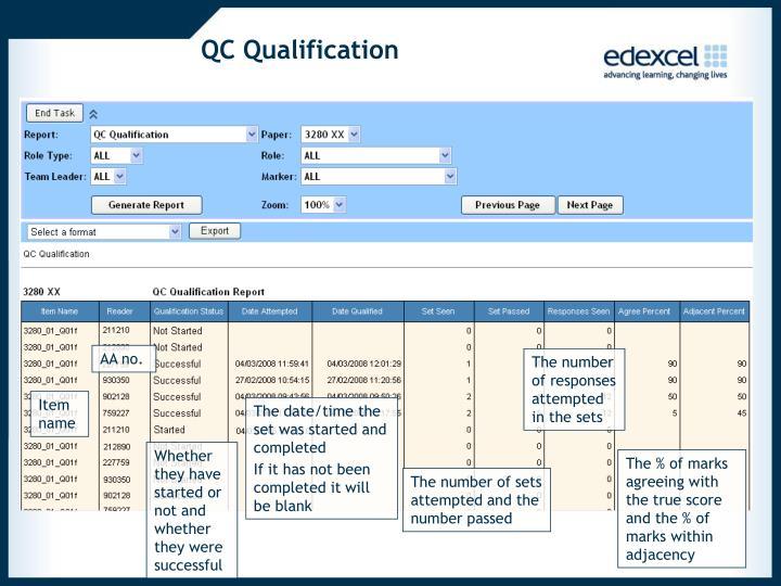 QC Qualification