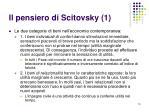 il pensiero di scitovsky 1