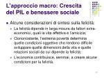 l approccio macro crescita del pil e benessere sociale1