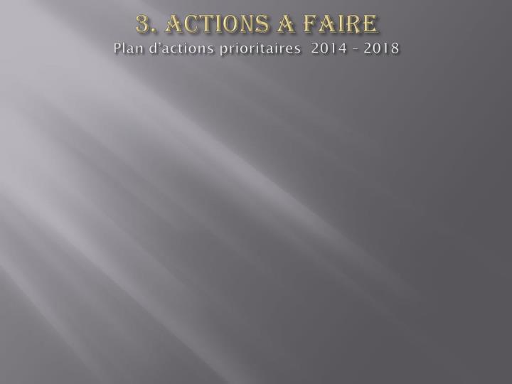 3. ACTIONS A FAIRE