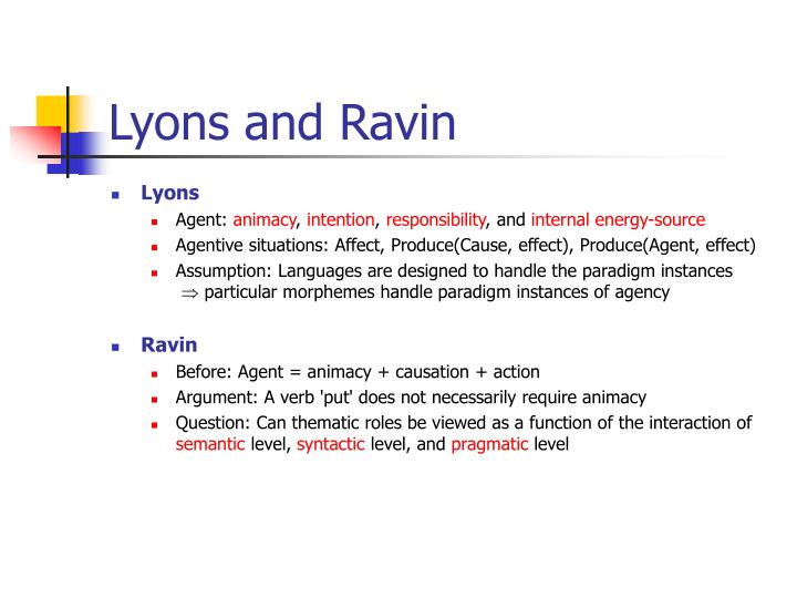 Lyons and Ravin