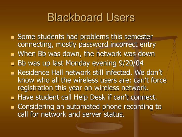 Blackboard Users