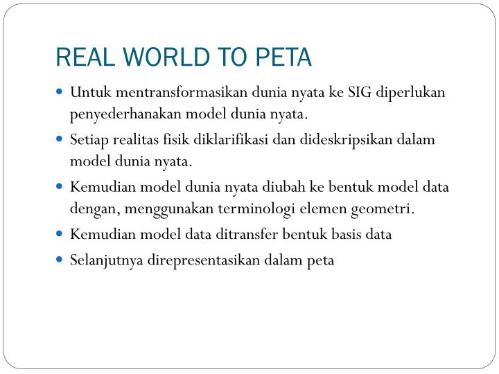 REAL WORLD TO PETA