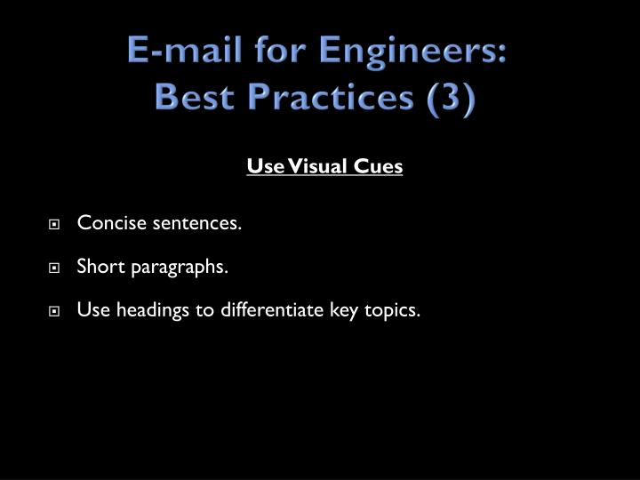E-mail for Engineers: