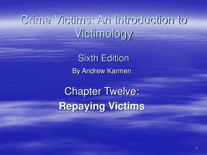 victimology topics Victimology topics  victimology portfolio project january 4, 14 winter13-a-8-pbs431-1 csu global dr elvira white introduction: when someone exposes themselves to dangerous places, this is the deviant place theory i explore what type of safety precautions can be taken to not become a victim and how to practice situational awareness at al times.