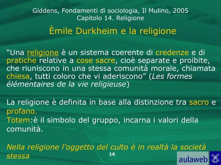 Èmile Durkheim e la religione