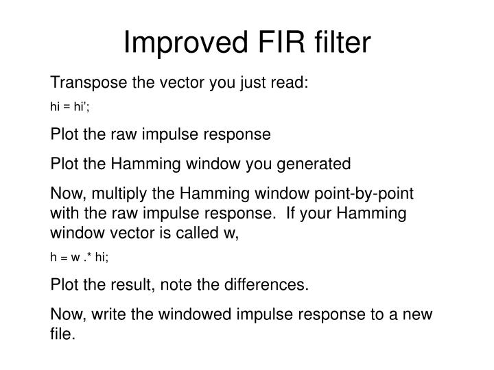 Improved FIR filter