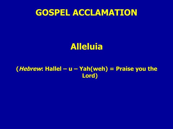 GOSPEL ACCLAMATION