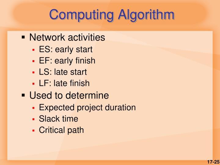 Computing Algorithm