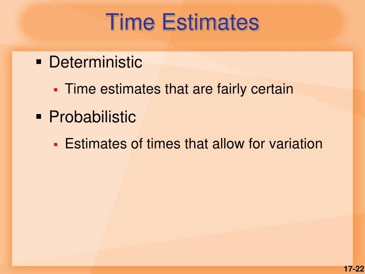 Time Estimates