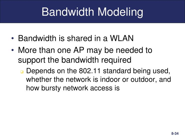 Bandwidth Modeling