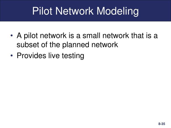 Pilot Network Modeling
