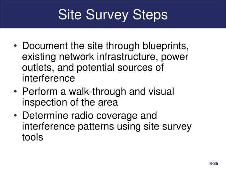 Site Survey Steps