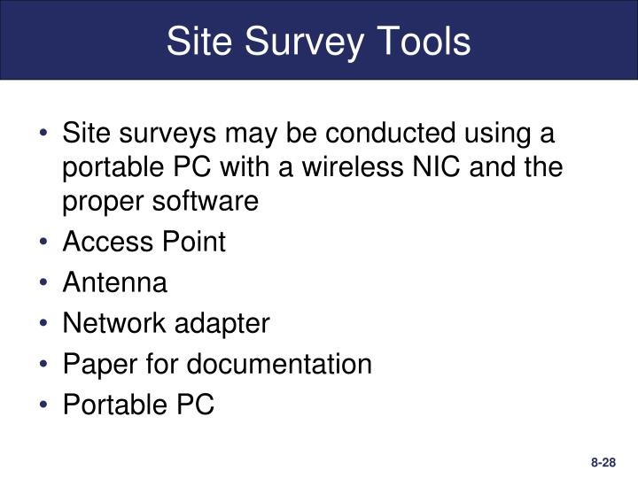 Site Survey Tools