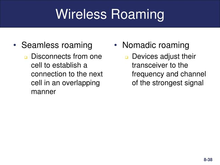 Seamless roaming