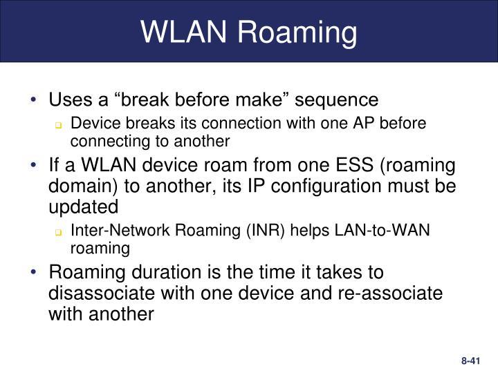 WLAN Roaming
