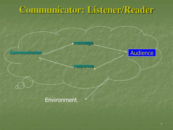 Communicator: Listener/Reader
