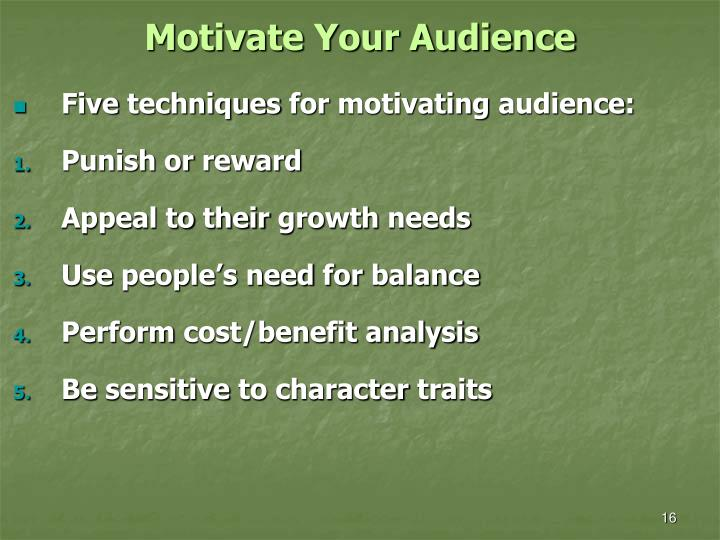 Motivate Your Audience
