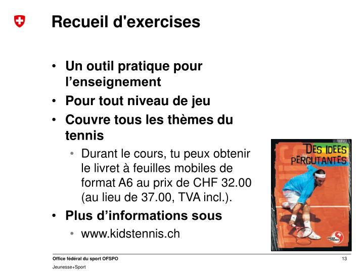 Recueil d'exercises