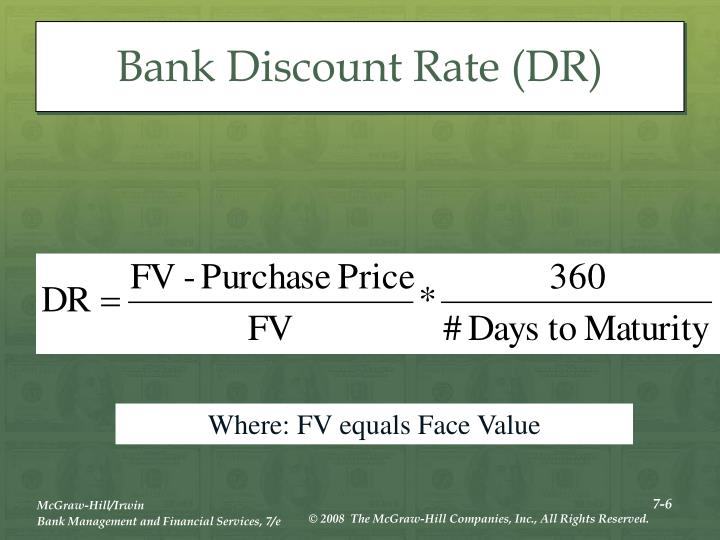Bank Discount Rate (DR)